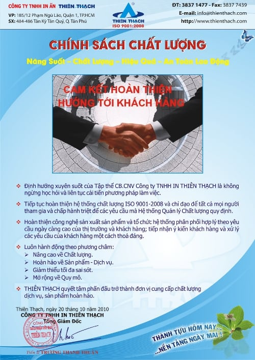 chinh sach chat luong thien thach